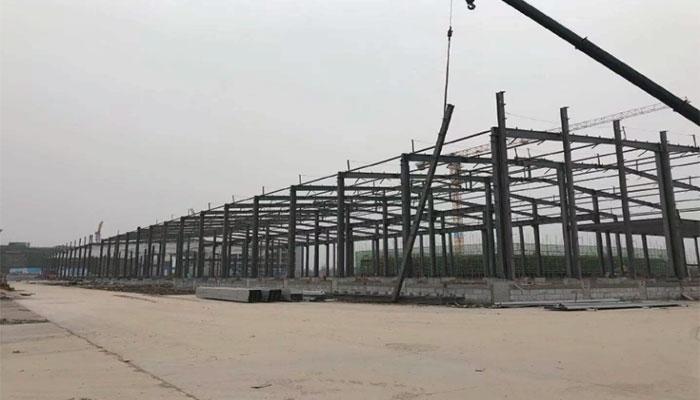 仙桃高新区智能产业综合体定制区钢结构安装工程